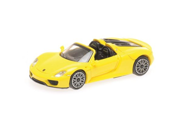 MINICHAMPS 1/87scale PORSCHE 918 SPYDER – 2013 – YELLOW  [No.870062131]