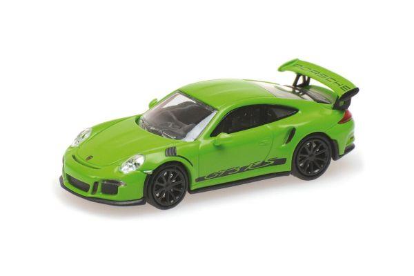 MINICHAMPS 1/87scale PORSCHE 911 GT3 RS – 2013 – GREEN W/ STRIPES  [No.870063224]