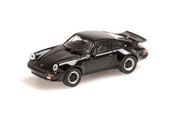 MINICHAMPS 1/87scale PORSCHE 911 TURBO – 1977 – BLACK  [No.870066101]