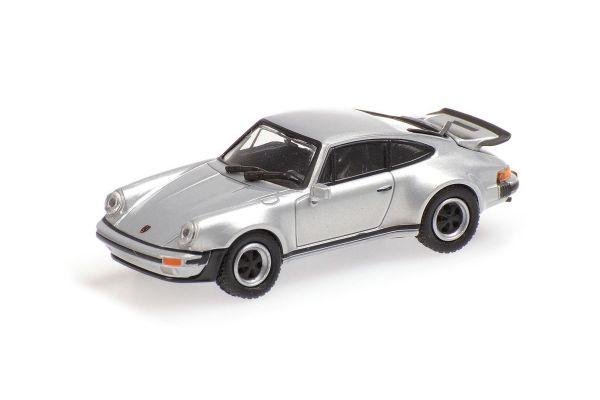 MINICHAMPS 1/87scale PORSCHE 911 TURBO – 1977 – SILVER  [No.870066102]