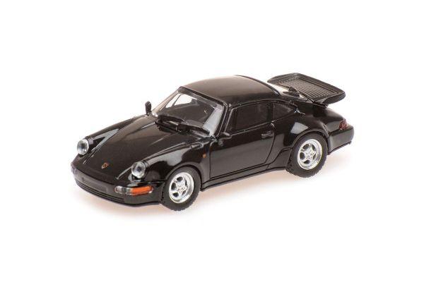 MINICHAMPS 1/87scale PORSCHE 911 TURBO – 1990 – BLACK  [No.870069104]
