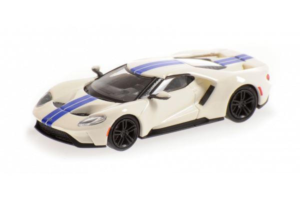 MINICHAMPS 1/87scale Ford GT 2018 White / Blue Stripe  [No.870088020]