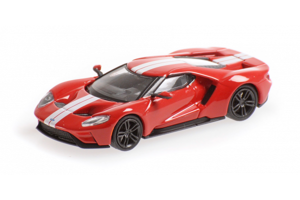 MINICHAMPS 1/87scale Ford GT 2018 Red / White Stripe  [No.870088021]