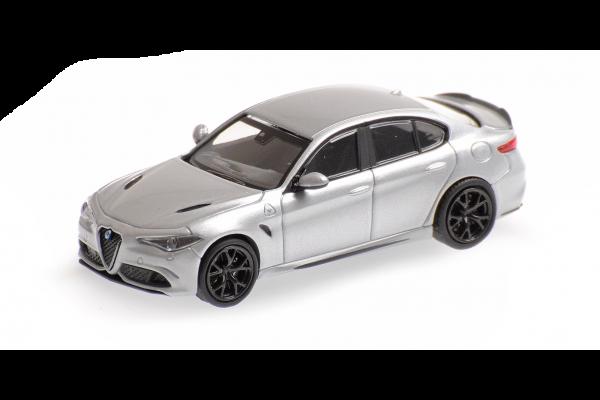 MINICHAMPS 1/87scale Alfa Romeo Giulia Quadrifolio 2017 Silver  [No.870120101]