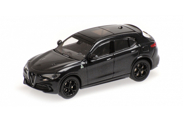 MINICHAMPS 1/87scale Alfa Romeo Stervo Quadrifolio 2018 Black Metallic  [No.870120204]