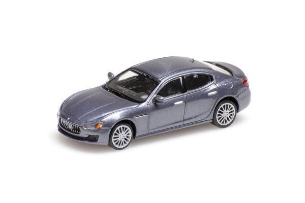 MINICHAMPS 1/87scale MASERATI GHIBLI – 2018 – GREY METALLIC  [No.870123002]