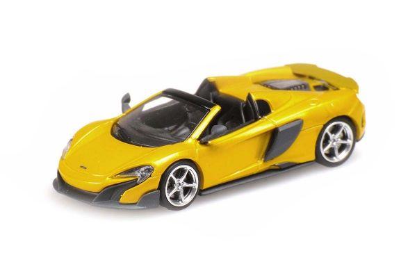 MINICHAMPS 1/87scale McLaren 675LT Spider SOLIS (Gold)  [No.870154434]