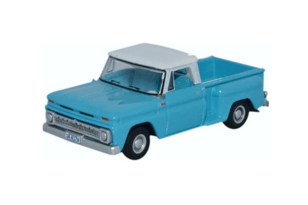 OXFORD 1/87scale Chevrolet step side pickup 1965 Light Blue / White  [No.OX87CP65001]