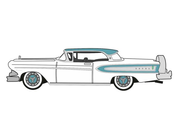 OXFORD 1/87scale Edsel Citation 1958 Snow White / Turquoise  [No.OX87ED58007]