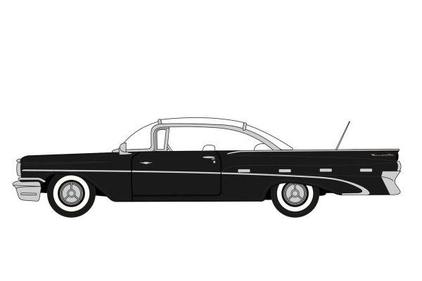 OXFORD 1/87scale Pontiac Bonneville Coupe 1959 Regent Black / White  [No.OX87PB59004]