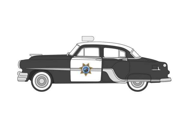 OXFORD 1/87scale California Highway Patrol Pontiac Chieftain 4 Door 1954  [No.OX87PC54003]