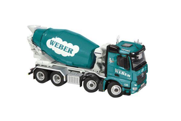 NZG 1/50scale Mercedes-Benz Arokusu 8 × 4 mixer truck