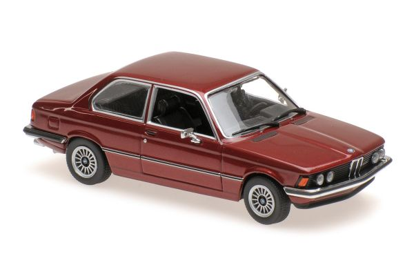 MINICHAMPS 1/43scale BMW 323I – 1975 – RED METALLIC  [No.940025471]