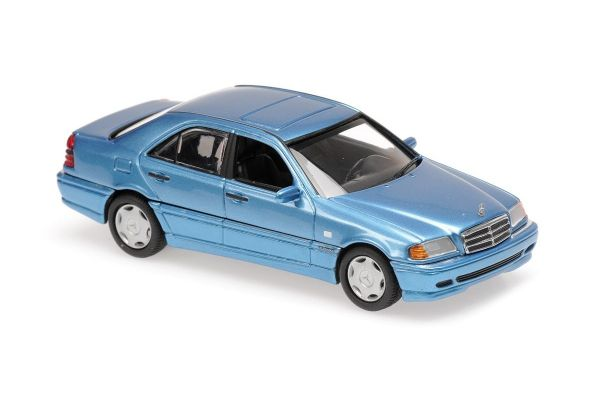 MINICHAMPS 1/43scale MERCEDES-BENZ C-CLASS – 1997 – BLUE METALLIC  [No.940037060]