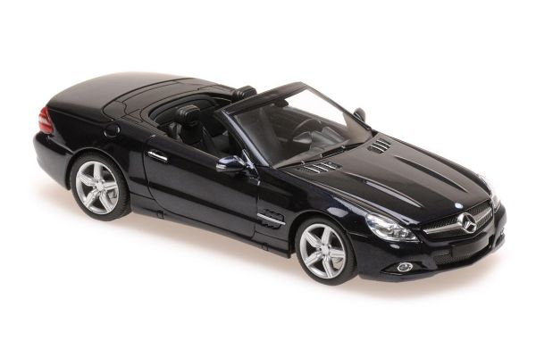 MINICHAMPS 1/43scale MERCEDES-BENZ SL-CLASS (R230) – 2008 – BLUE METALLIC  [No.940037531]