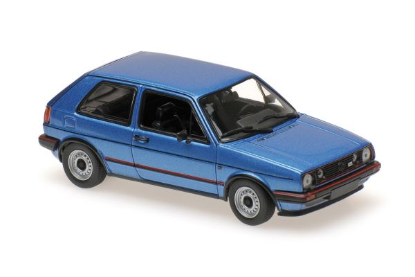 MINICHAMPS 1/43scale VOLKSWAGEN GOLF GTI – 1985 – BLUE METALLIC  [No.940054120]