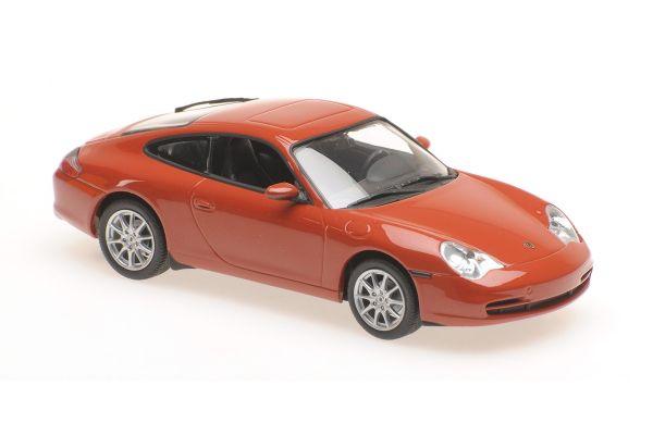 MINICHAMPS 1/43scale PORSCHE 911 COUPÉ – 2001 – ORANGE RED METALLIC  [No.940061021]