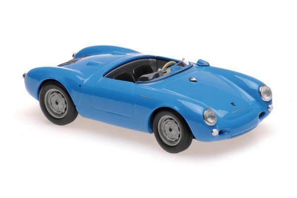 MINICHAMPS 1/43scale PORSCHE 550 SPYDER – 1955 – BLUE  [No.940066031]