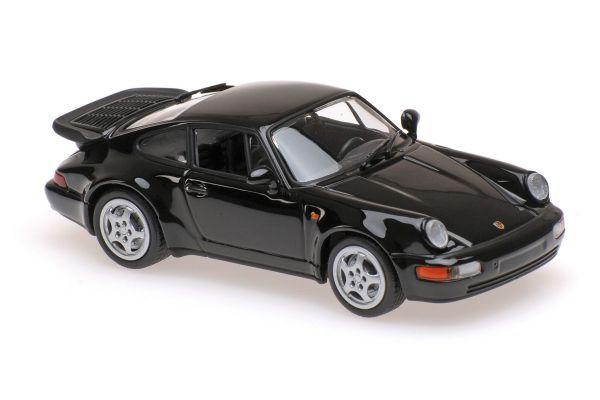 MINICHAMPS 1/43scale PORSCHE 911 TURBO (964) – 1990 – BLACK  [No.940069101]