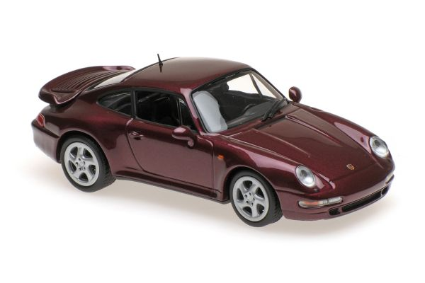 MINICHAMPS 1/43scale PORSCHE 911 TURBO S (993) – 1997 – RED METALLIC  [No.940069200]