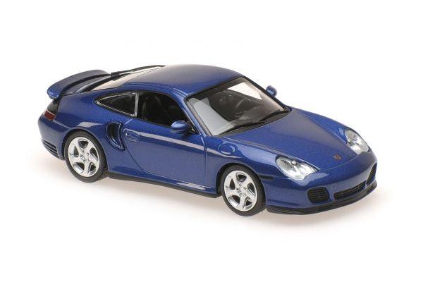 MINICHAMPS 1/43scale PORSCHE 911 TURBO (996) – 1999 – BLUE METALLIC  [No.940069301]