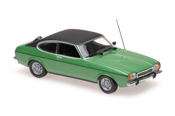 MINICHAMPS 1/43scale FORD CAPRI II – 1974 – GREEN METALLIC  [No.940081200]