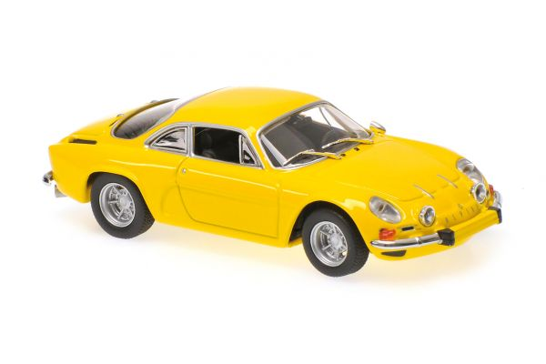 MINICHAMPS 1/43scale RENAULT ALPINE A110 – 1971 – YELLOW  [No.940113601]