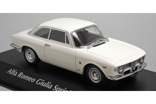 MINICHAMPS 1/43scale ALFA ROMEO GIULIA SPRINT GTA – 1965 – WHITE  [No.940120441]