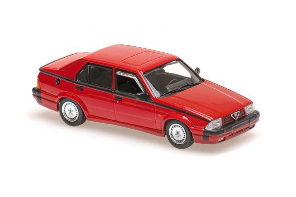 MAXICHAMPS 1/43scale ALFA ROMEO 75 V6 AMERICA – 1987 – RED  [No.940120461]