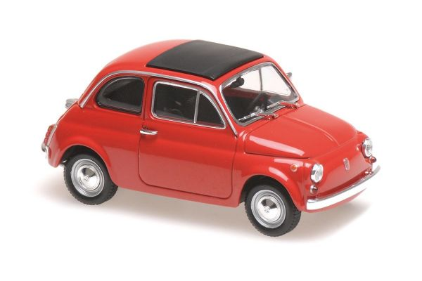 MINICHAMPS 1/43scale FIAT 500 L – 1965 – RED  [No.940121600]