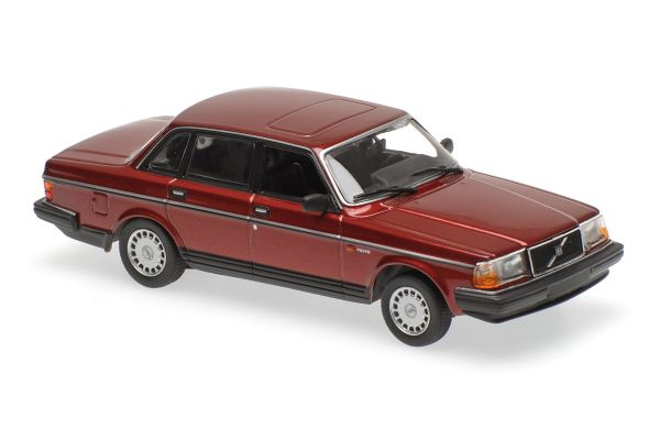 MINICHAMPS 1/43scale VOLVO 240 GL – 1986 – DARK RED METALLIC  [No.940171401]