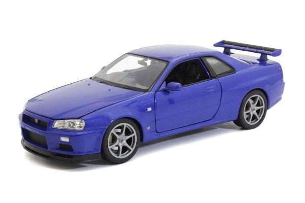 WELLY 1/24scale Nissan Skyline GT-R (R34) Metallic Blue  [No.WE24108MB]