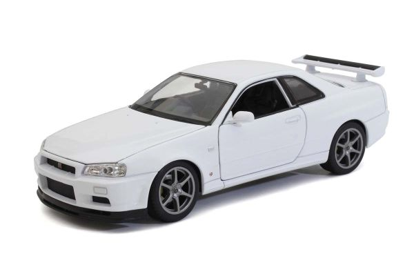 WELLY 1/24scale Nissan Skyline GT-R (R34) White  [No.WE24108W]