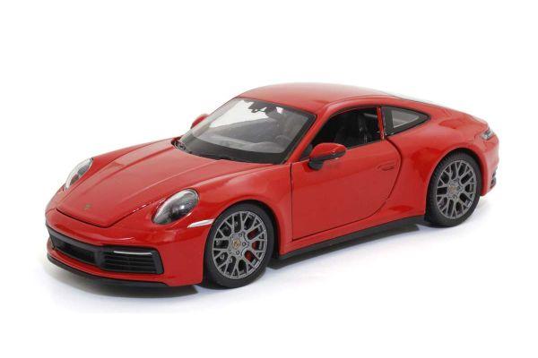 WELLY 1/24scale Porsche 911 Carrera 4S Red  [No.WE24099R]