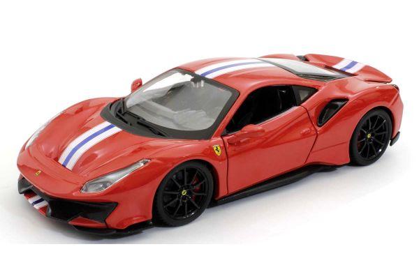 Bburago 1/24scale Ferrari 488 Pista (Red)  [No.18-26026R]