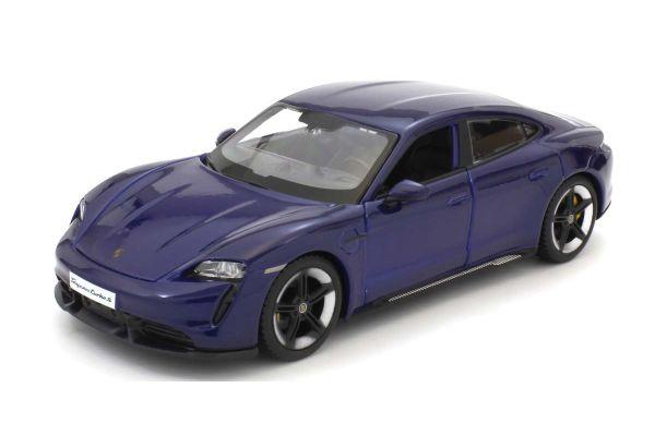 Bburago 1/24scale Porsche Taycan Turbo S (Blue)  [No.BUR21098BL]