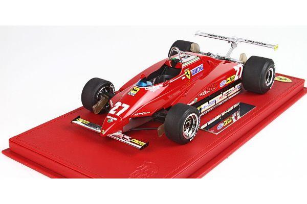 BBR 1/18scale Ferrari 126C2 GP USA Long Beach 1982 G.Villeneuve No.27  [No.P18132A]