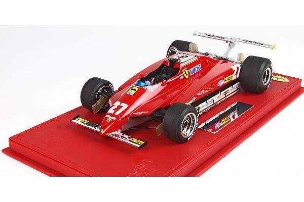 BBR 1/18scale Ferrari 126C2 GP USA Long Beach 1982 G.Villeneuve No.27 with case  [No.P18132AV]