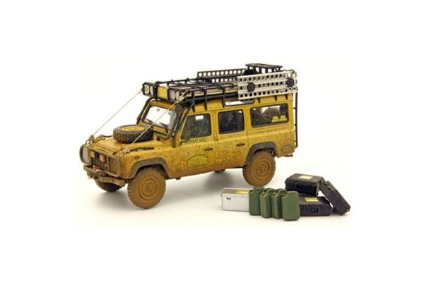 ALMOST REAL 1/43scale LAND ROVER DEFENDER 110 CAMEL TROPHY DIRTY VERSION  Yellow [No.AL410309]