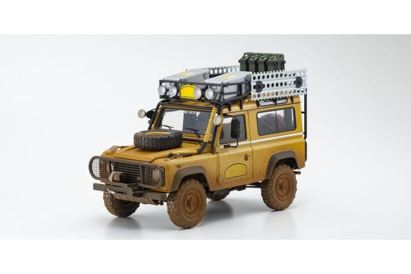 ALMOST REAL 1/18scale Land Rover Defender 90 Camel Trophy Borneo 1985 Dirty Version (Yellow)  [No.AL810212]