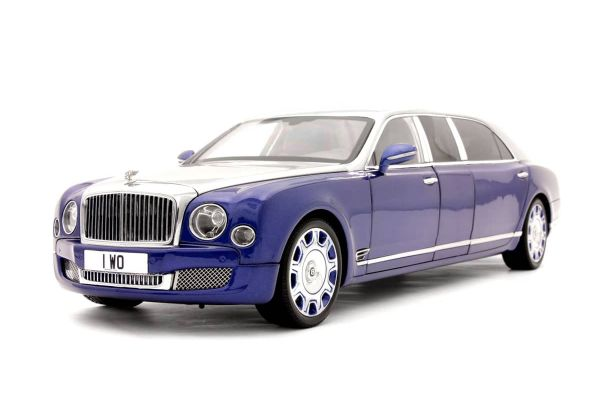 ALMOST REAL 1/18scale Bentley Mulsanne Grand Limousine by Mariner (Silver/Blue)  [No.AL830601]