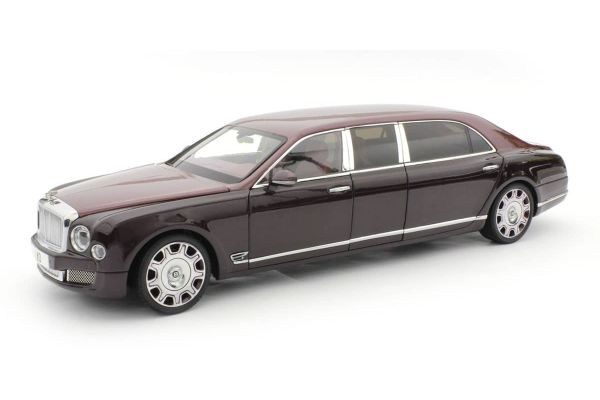 ALMOST REAL 1/18scale Bentley Mulsanne Grand Limousine by Mariner (Light Red/Dark Red)  [No.AL830604]