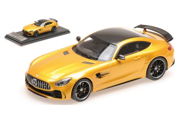 ALMOST REAL 1/43scale MERCEDES-AMG GT R – 2017 – Pearl Yellow  [No.AL420702]
