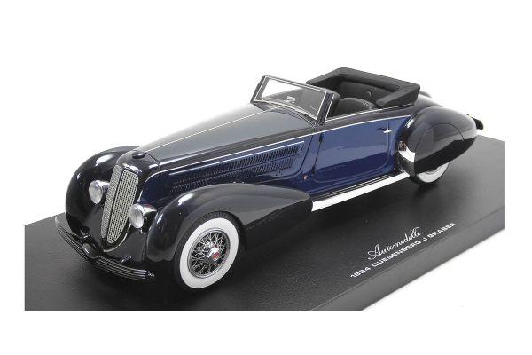Automodello 1/12scale デューセンバーグ J グラバー コンバーチブル 1934 ブルー/ブラック [No.AM24DUE-GRA]