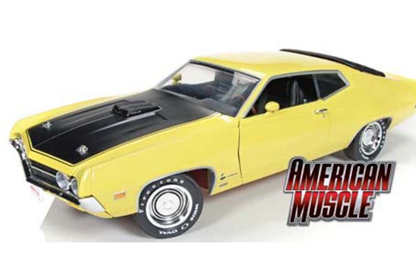 AMERICAN MUSCLE 1/18scale 1970 Ford Torino Cobra (Hemmings Muscle Machines) Yellow [No.AMM1049]
