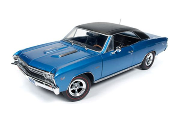 AMERICAN MUSCLE 1/18scale 1967 Chevy Chevelle SS 427 (Baldwin Motion) Marina Blue  [No.AMM1068]
