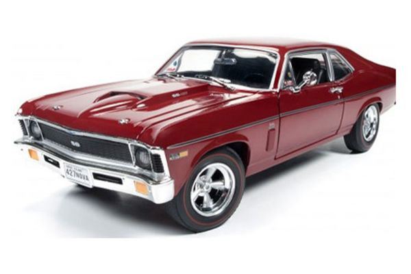 AMERICAN MUSCLE 1/18scale 1969 Chevrolet Nova (Baldwin Motion) Garnet Red  [No.AMM1073]