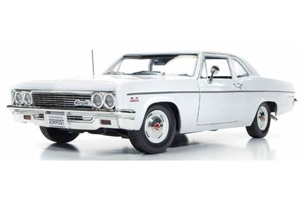 AMERICAN MUSCLE 1/18scale 1966 Chevrolet Bel Air White / Blue Interior  [No.AMM1078]