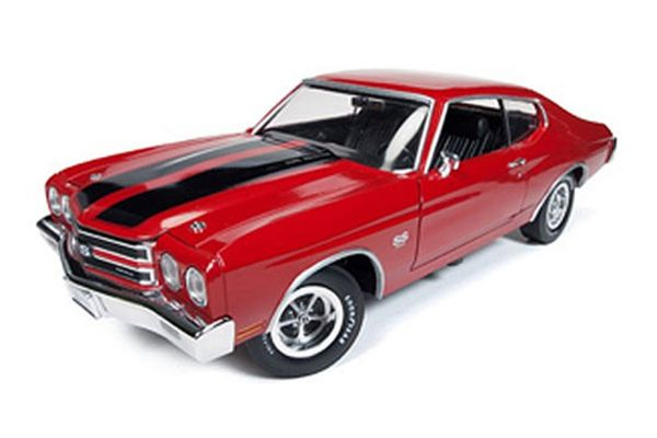 AMERICAN MUSCLE 1/18scale 1970 Chevy Chevelle SS (Cranberry Red)  [No.AMM1082]