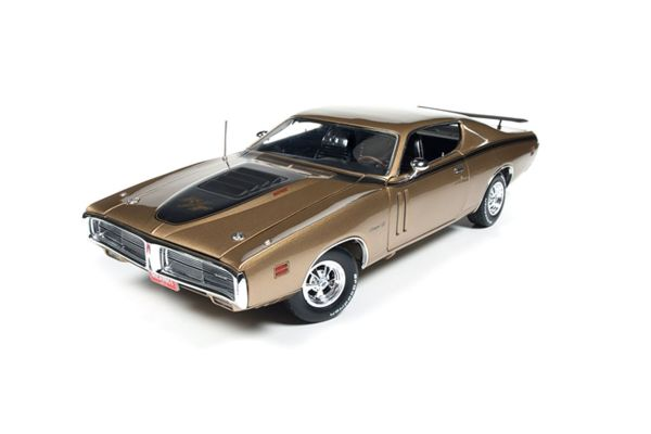 AMERICAN MUSCLE 1/18scale 1971 Dodge Charger R / T (50th Anniv) GY8 Gold Metallic  [No.AMM1086]